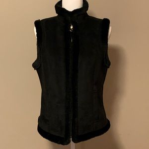 Chaps Faux Fur and Suede Vest
